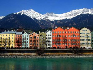 Innsbruck river houses Street View Adventure Travel